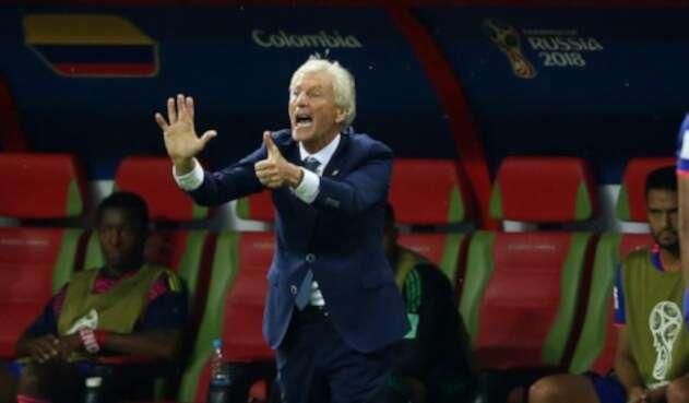 José Pékerman en el juego entre Colombia y Polonia en Rusia 2018
