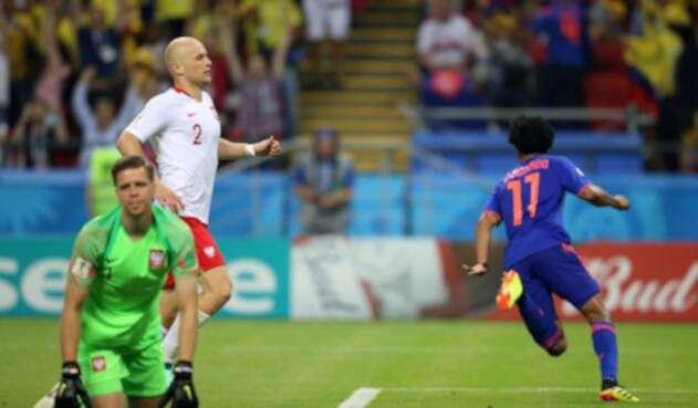 Cuadrado salió a celebrar su gol
