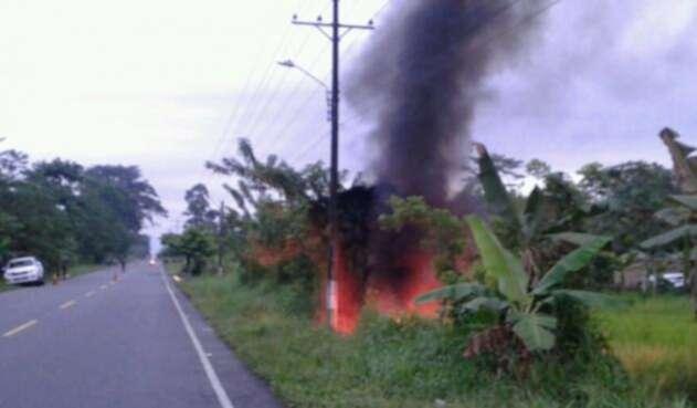 Ecopetrol reportó incendio en Oleoducto Trasandino, en Nariño