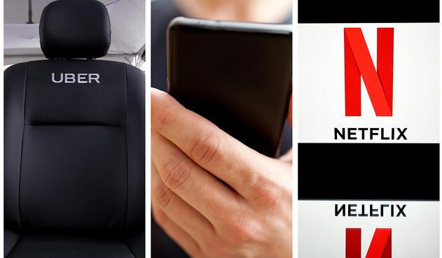 Imágenes de referencia de plataformas digitales como Uber y Netflix / Colprensa, Ingimage y AFP