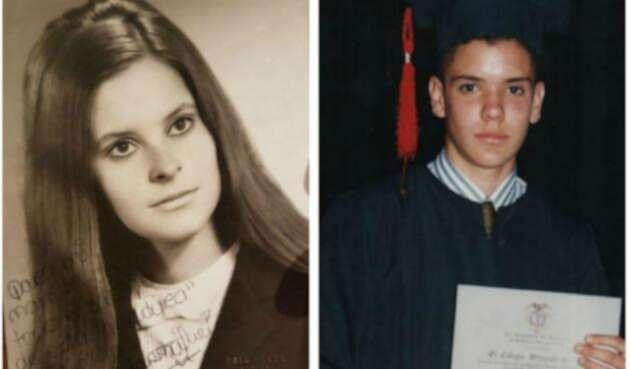 Iván Duque y Marta Lucía Ramirez en su adolescencia