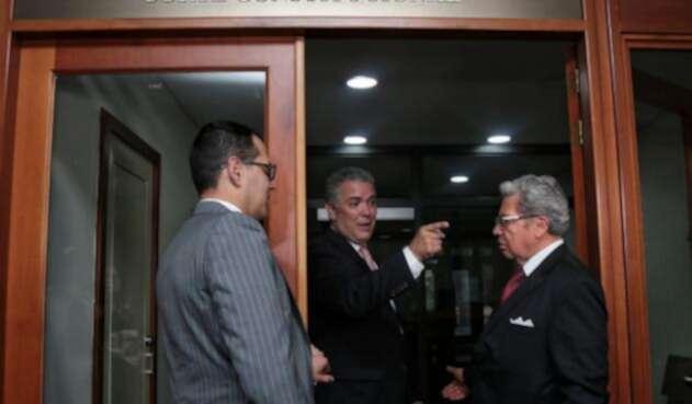 Iván Duque en la Corte Constitucional