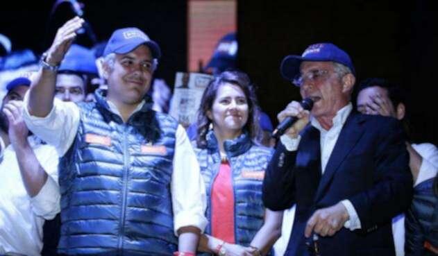 Iván Duque y Álvaro Uribe en campaña
