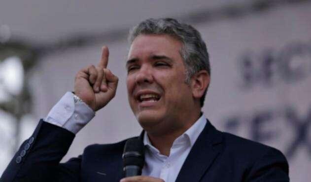 Iván Duque, candidato presidencial, en Bogotá el 3 de mayo de 2018