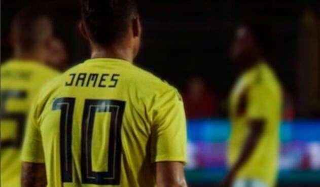 James Rodriguez con la Selección Colombia