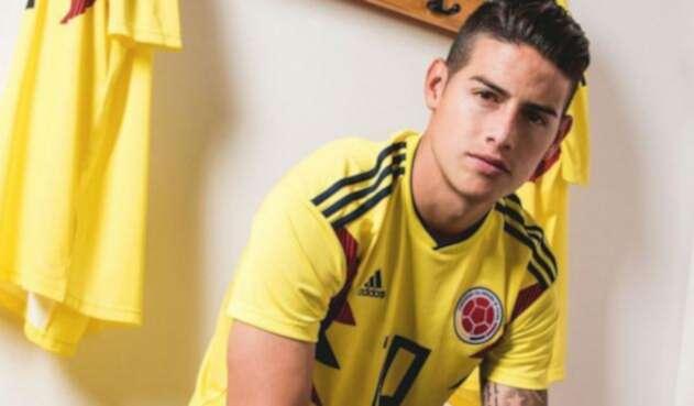 James Rodríguez, volante de Colombia
