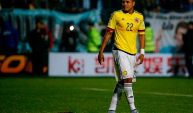 Jeison Murillo con la Selección Colombia el 26 de junio de 2015, en Viña del Mar (Chile)