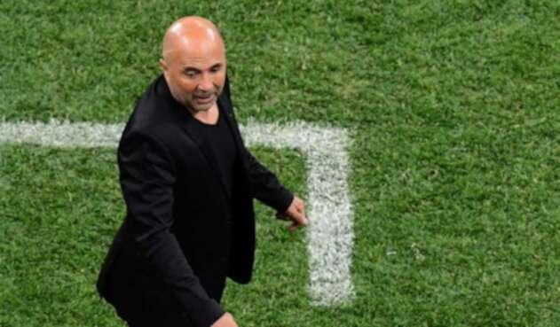 Jorge Sampaoli, técnico de Argentina, frente a Croacia en el Mundial Rusia 2018