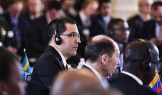 Jorge Arreaza, canciller de Venezuela, durante la Asamblea de la OEA en Washington (Estados Unidos)
