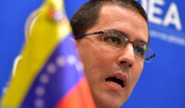 Jorge Arreaza, canciller venezolano, en la sede de la OEA en Washington