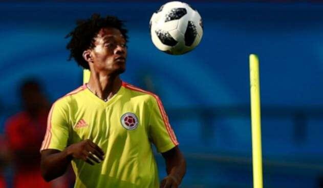Juan Guillermo Cuadrado entrenando con la Selección Colombia