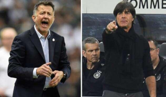 Juan Carlos Osorio y Joachim Löw se encuentran después de la semifinal de la Copa Confederaciones