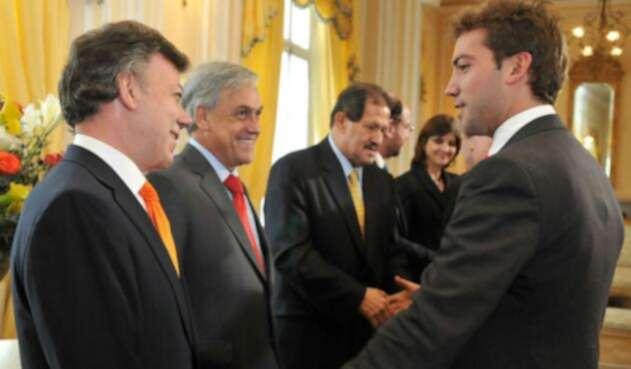 Juan Manuel Santos y Martín Santos