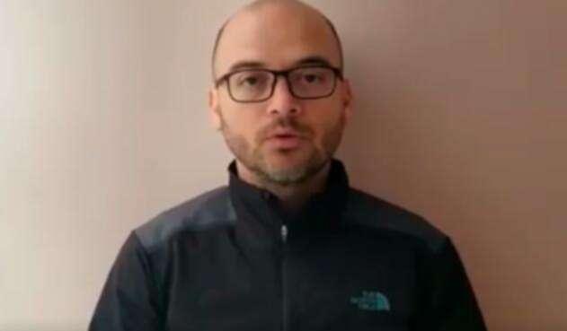 Luis Felipe Gómez en el video que publicó en sus redes sociales