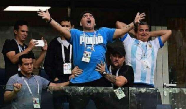 Diego Maradona, en medio del Mundial Rusia 2018