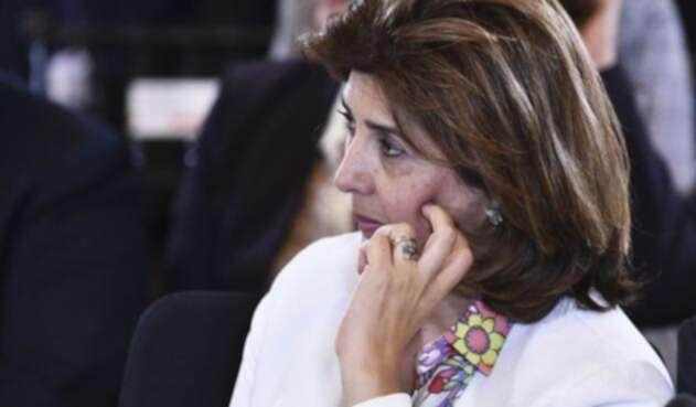 La canciller colombiana María Ángela Holguín
