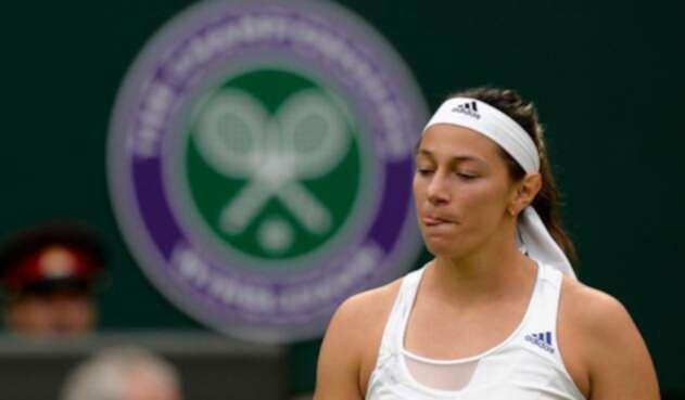 Mariana Duque, tenista colombiana, en el Abierto de Wimbledon (Londres) de 2013