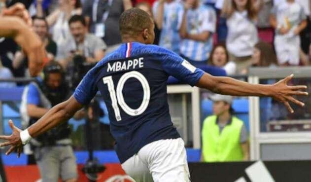 Kylian Mbappé eliminó a Argentina del Mundial de Rusia 2018