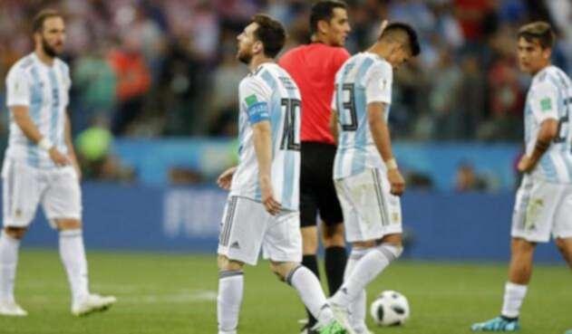 Messi decepcionado tras el partido