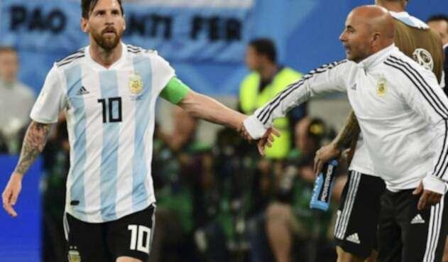 Leo Messi y Jorge Sampaoli