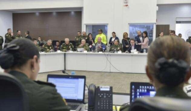 El ministro de Defensa, Luis Carlos Villegas, durante los anuncios