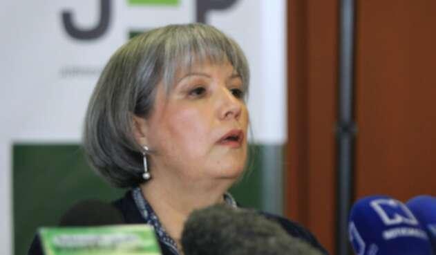 La presidenta JEP, Patricia Linares.