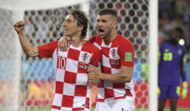 Luka Modric marcó de penal ante Nigeria
