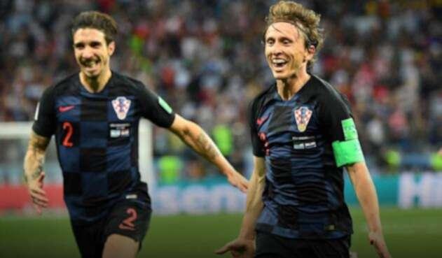 Modric anotó el segundo gol para Croacia