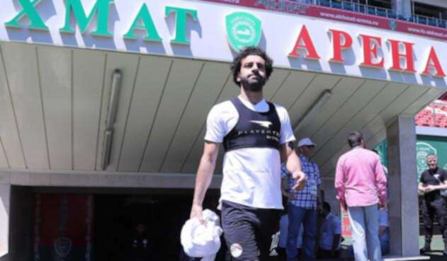 Mohamed Salah, delantero de la selección de Egipto