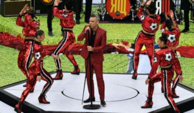 Robbie Williams en la inauguración del Mundial