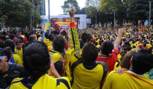 Algunos hinchas colombianos se concentrarán en lugares públicos para ver a la Selección