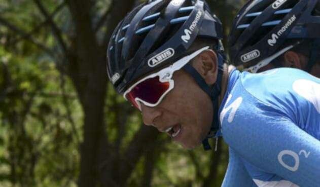 Nairo Quintana sufrió el pinchazo de sus dos ruedas en la primera etapa del Tour
