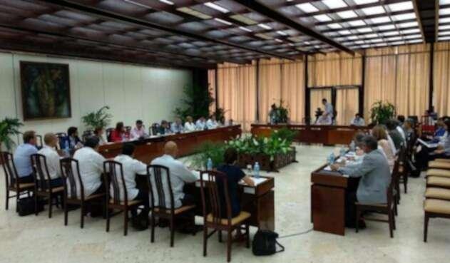 Así se veían las negociaciones entre el Gobierno y el ELN en La Habana (Cuba).