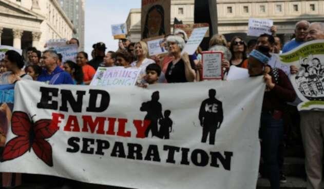 Migrantes en la frontera méxico-estadounidense