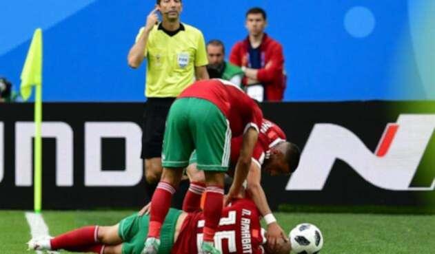 El mediocampista Noureddine Amrabat alarmó a todos en el Marruecos vs Irán