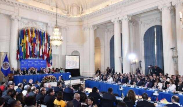 La Organización de Estados Americanos durante su sesión en Washington, el 4 de junio de 2018