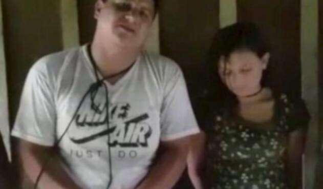 La pareja ecuatoriana secuestrada por alias Guacho