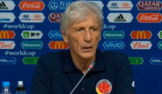 José Pékerman, técnico de la Selección Colombia, en la rueda de prensa previos a enfrentar a Senegal