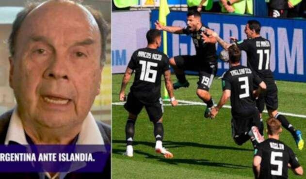 Hernán Peláez habló del empate a un gol de Argentina e Islandia