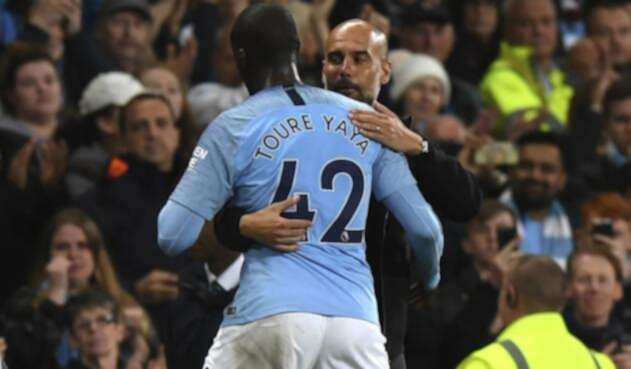 Pep Guardiola y Yaya Touré