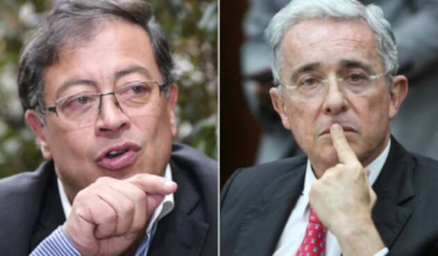 Gustavo Petro y Álvaro Uribe, en permanente enfrentamiento.