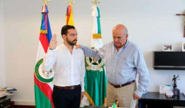 Posesión de Andrés Villamizar como secretario de seguridad de Cali