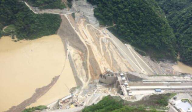 Vista aérea del proyecto Hidroituango