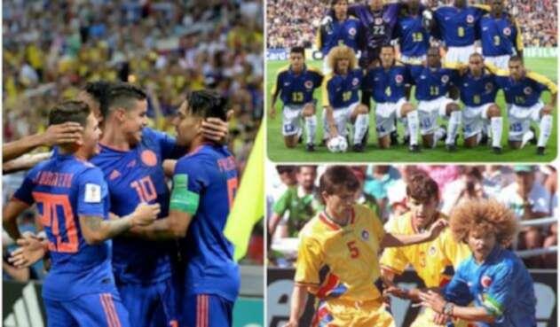 Selección Colombia 2018, 1998 y 1994