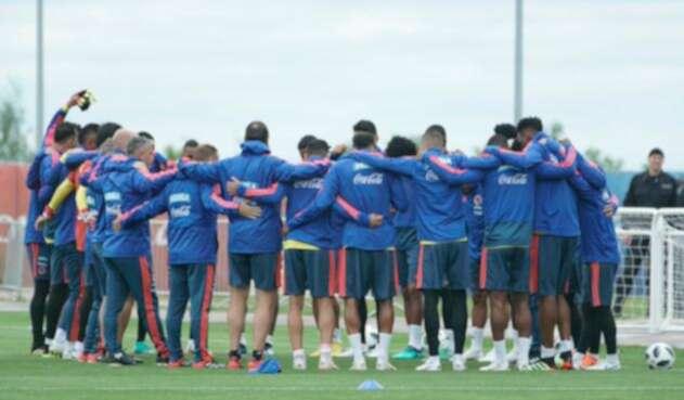 La Selección Colombia entrenando en Rusia