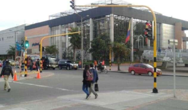 Semáforo en la ciudad de Bogotá