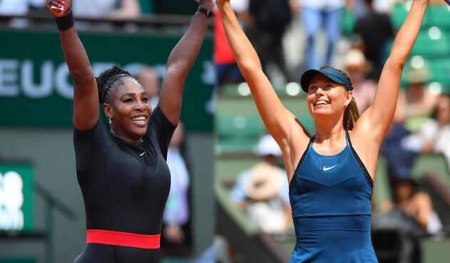 Serena Wlliams y María Sharapova