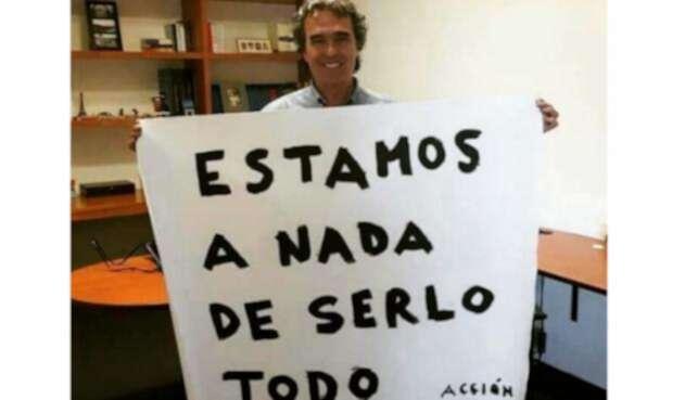 El excandidato presidencial Sergio Fajardo