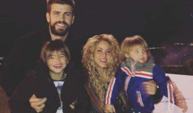 Shakira, Gerard Piqué y sus hijos