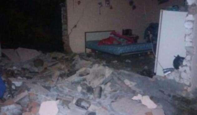 Imagen de vivienda afecta por los sismos en Pasto